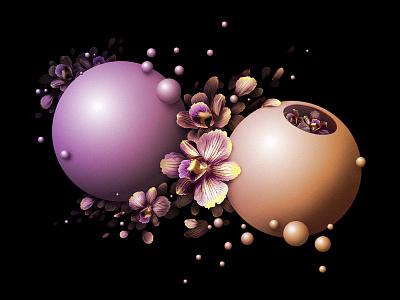Flower Bombs design illustration bombs flowers