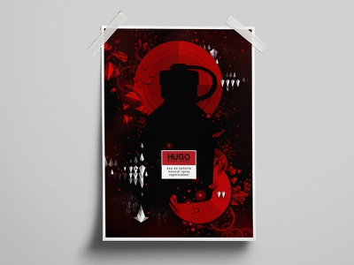 Hugo Boss Create graphic design illustration print