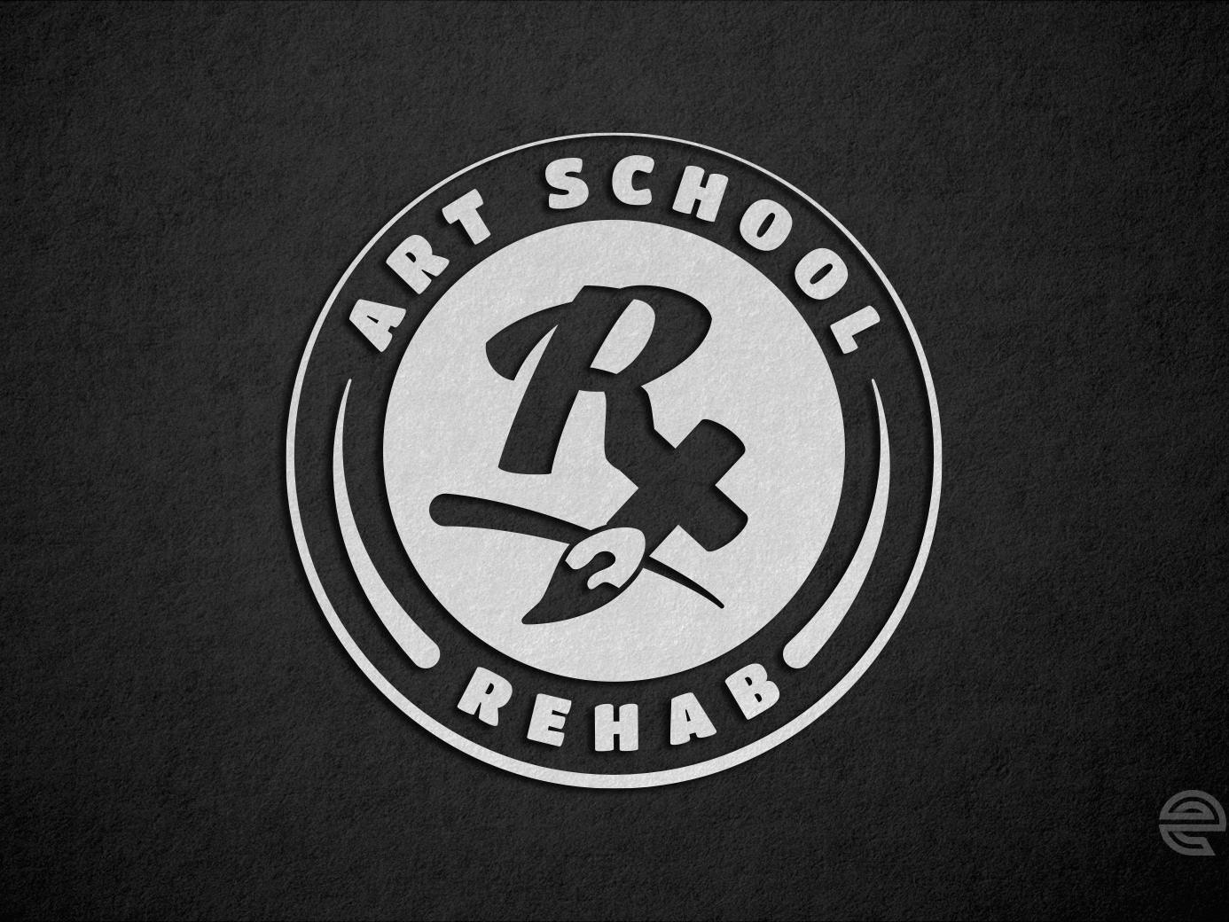 Art School Rehab Logo branding logo design black and white brand lettermark rehab art school art