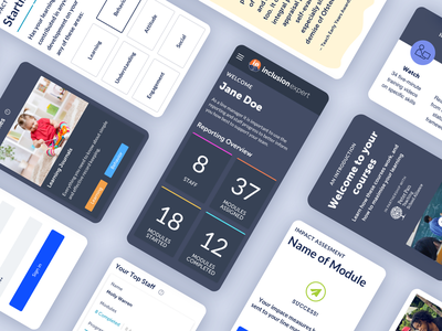 Teacher Training Platform mobile dashboard ui ux education dashboad ui ui design