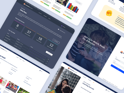 Teacher Training Platform II ux dashboad education ui design ui