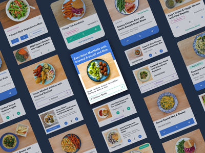 Meal Card Ideation ui iteration ideation recipe meal food card ui design
