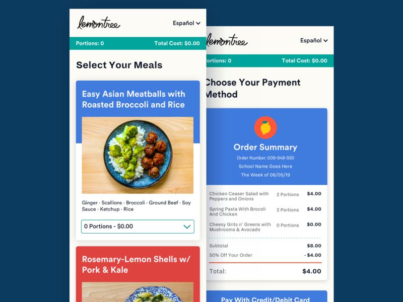 Meal Kit Ordering ecommerce mobile web design food meal ui design ui