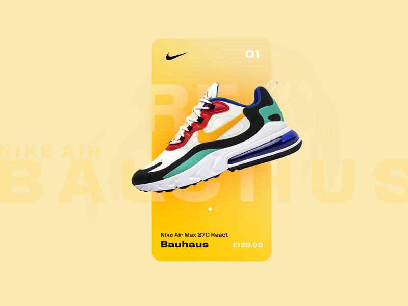 Nike React Bauhaus - App Concept