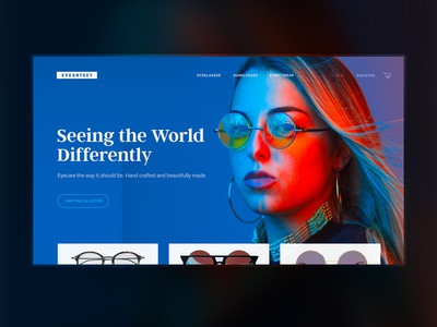 Eyewear E-commerce Concept