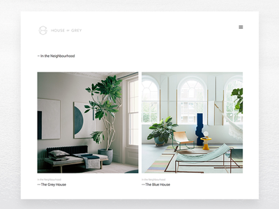 House of Grey interior design exhibition Website Design