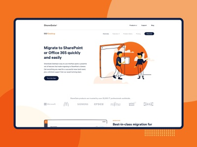 ShareGate Desktop - Product page redesign web design product page product design gsoft cloud technology sharepoint sharegate