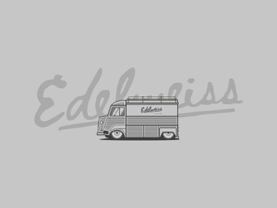 EDELWEISS carillustration customtype illustration lettering typography