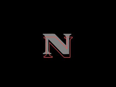 N branding lettering linesart custom type typography