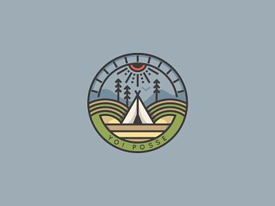 TIPI branding tipi linesart illustration