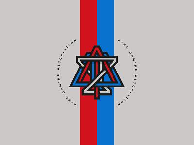 ASZO GAMING ASSOCIATION icon design identity icon monogram typography branding logo