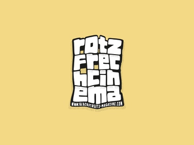 ROTZFRECH CINEMA type lettering customtype typography rotzfrechcinema rotzfrech