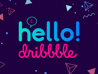 Hello Dribbble! dribbble welcome brazil typography photoshop design composition hello
