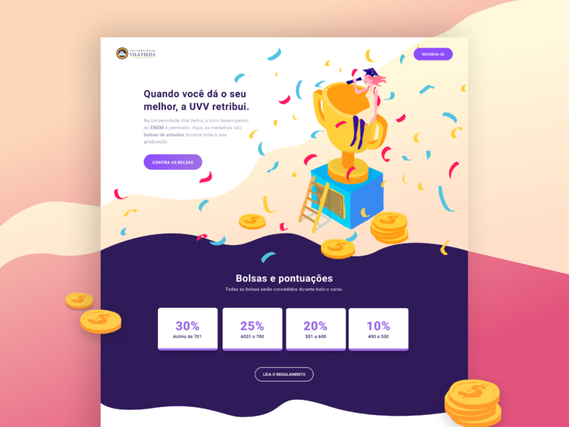 Discount Landing page colors composition brazil illustration design landing page landing interface ui