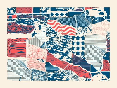 Welcome To America welcome inclusive blue white red usa experimental patterns textures map america