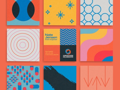 Creatives Collaborative Cards playful vector patterns colorful cards business square collaborative creatives