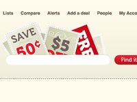 Coupons with search field