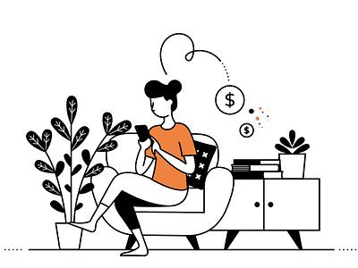 Sharing socialmedia sharing bench person vector-based illustrator illustration