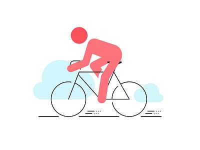 Cycling, yoga, pilates.... vector-based flatdesign icon illustration sports