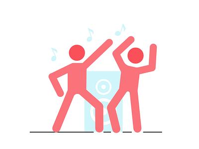 Keep fit & dance vector-based vectorart dance sport icon