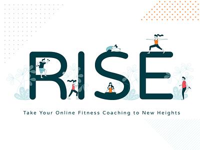 RISE illustration characters athletes figures fitness illustrator