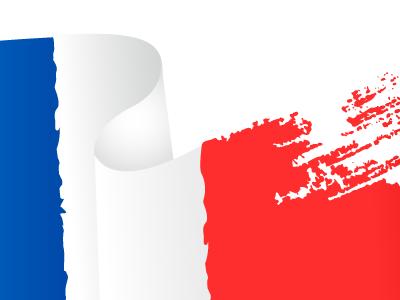 French flag brush stroke