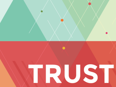 TRUST… book cover design geometrical triangle circles illustration montserat bold