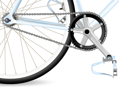 For the love of cycling illustration bike vector illustration wheel chain pedal cycling race bike gradients fixie