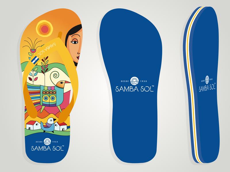 El Salvador flip-flop el salvador palma art flipflop