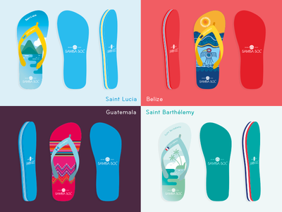 Flip-flops guatemala belize tropical country art illustration illustrator flip-flops