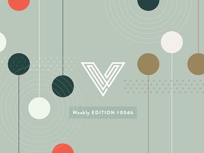 Edition #0046 brandon grotesque v concentric circles dots illustration header