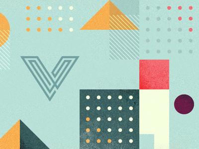 V newsletter texture geometrical geometry illustration header