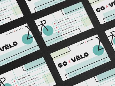 Go-à-Vélo business card bicycle alfarn bauhaus adobe hidden treasures
