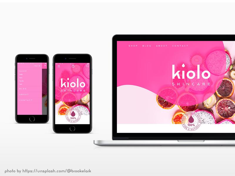 kiolo skincare reross quadreatic logo ux website bauhaus dessau adobe  xd adobe hidden treasures