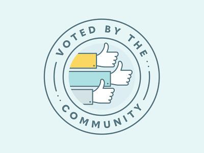 Voted quasimoda extra bold icon illustration label