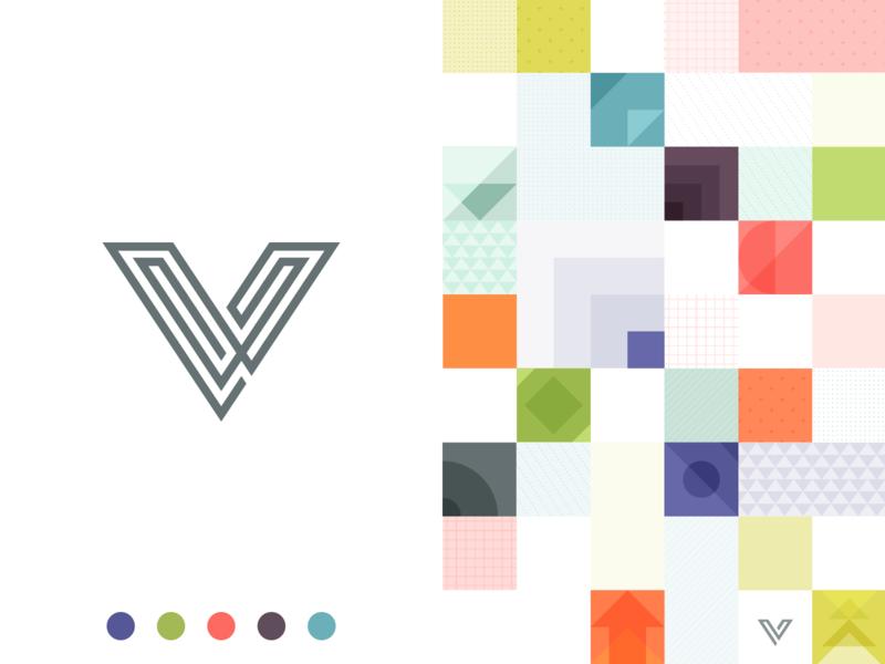 Veerle's blog 4.0 vector design illustrator illustration colors logo squares geometic veerle v logo