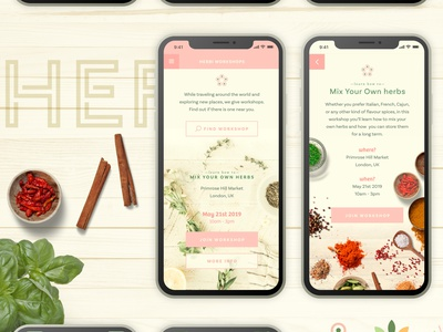 Adobe XD Fonts Project typography logo spices herbs adobexd adobexduikit adobe fonts fonts app