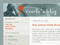 Veerle's blog 1.0