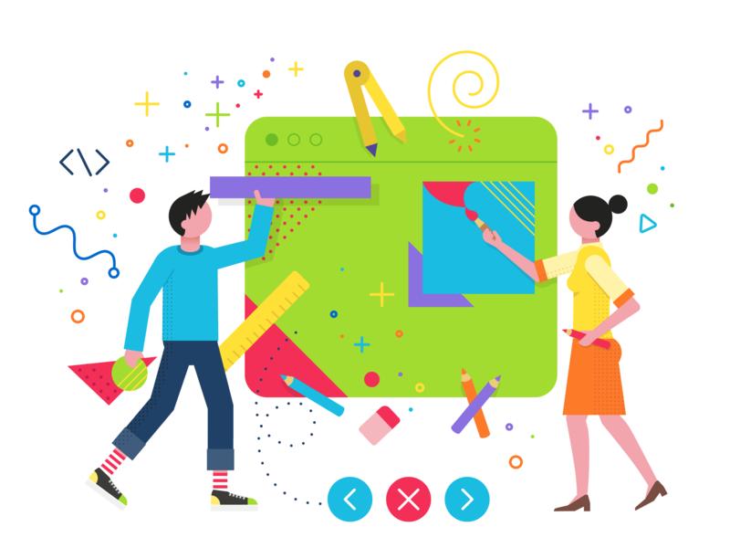 Designing charachters design illustrator vector-based illustration