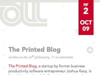 Scroll magazine web site
