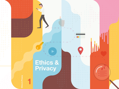 Ethics & Privacy vector illustration magazine cover patterns illustration
