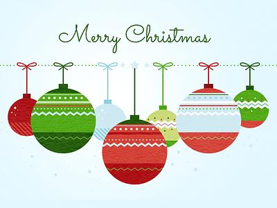 Merry Christmas christmas balls christmas card illustration illustrator christmas