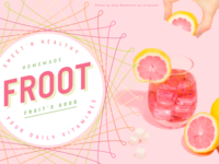 Froot's Good label drink fruit spirograph illustrator packaging illustraion