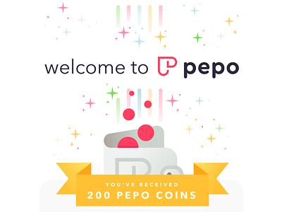 Welcome to Pepo avenir next cera round crypto currency illustration xd design app ui design ux design