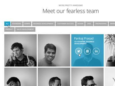 DoubleDutch Website: Team Section