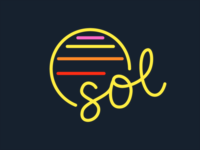 Sol neon sign ☀️