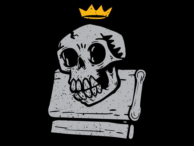 Screen Printing Icon diy punk skull distressed screen print