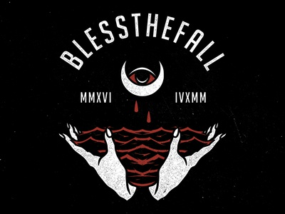 BLESSTHEFALL band merch t-shirt design merch design tee design apparel design apparel design art illustration merch