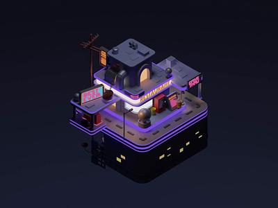 street render blender motion graphics illustration 3d