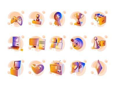 3D Gaming Icon ui illustrator graphic design render blender 3d